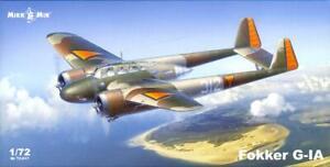 MikroMir Models 1/72 FOKKER G-1A Dutch WWII Fighter