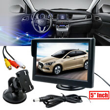 """5"""" Inch Car Parking Rear View Monitor 800x480 Color LCD Screen Dual RCA Video XH"""