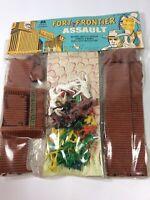 Vintage Multiple Toymakers 1968 Fort Frontier Assault Set Sealed New