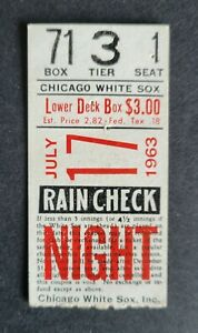 Dave Debusschere Chicago White Sox 1963 First Career Win Ticket Stub
