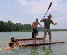 Teambuilding, Teamevent Wanderung mit Floßbau Junggesellenabschied Floß Survival
