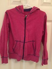 Xersion Girls Size 6 7 Pink Lightweight Long Sleeve shirt Hoodie Jacket 24af61c66