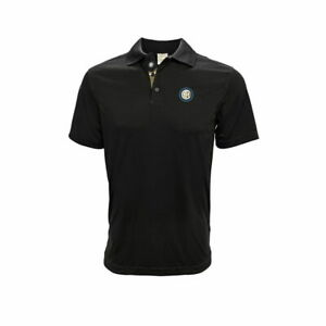 INTER MILAN BLACK ADULT POLO SHIRT OFFICIALLY LICENSED 100% PREMIUM POLYESTER