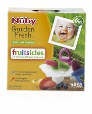 Nuby Garden Fresh Fruitsicles Frozen Purees Moulds Baby Feeding Free Delivery