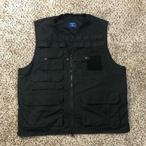 Propper Tactical NRA Men Sz XL Black Wrinkle Resistant Liquid Repellent Vest EUC