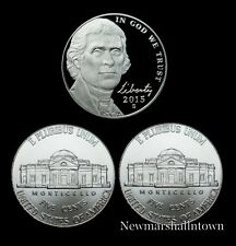2015 P+D+S Jefferson Nickel Mint Proof Set ~ PD U.S. Coins from Bank Rolls