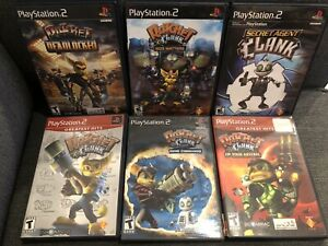 Lot Of 6 CIB Ratchet And Clank PS2 Games Size Matters, Secret Agent Clank & More