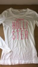 GENUINE Hollister Girls Top Size S White Long Sleeve