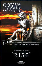 SIXX A.M Prayers For The Damned 2016 Ltd Ed NEW RARE Poster +FREE Rock Poster AM