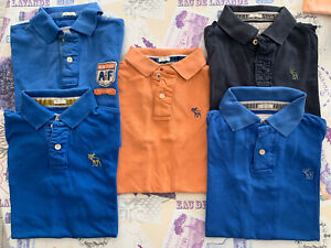 Lot De 6 Polo Abercrombie & Fitch MEDIUM M Muscle