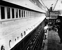 New 8x10 Photo: View of RMS TITANIC During Boarding, 1912
