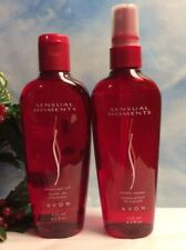"""Vintage Avon """" Sensual Moments """" Massage Oil And Body Spray Lot of 2 4.2 oz New"""