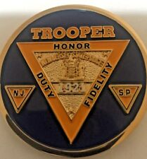 """New Jersey STATE POLICE RANK INSIGNIA 2"""" CHALLANGE COIN / TROOPER"""