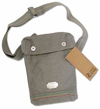 BOB MARLEY - EMBOSSED METAL TAG GREY CANVAS BAG NEW NWT OFFICIAL RECYCLED FIBERS
