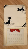 Vintage Scottie Dog Calendar 1936 Handmade