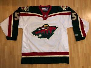 Authentic 2003 2004 CCM Minnesota Wild ORIGINAL SCHULTZ JERSEY LARGE NHL PN155