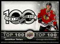 2017-18 Upper Deck Tim Hortons Top 100 Jonathan Toews . #2