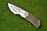Linder kleines Jagdmesser 420 Stahl 440305 Hirschhorn