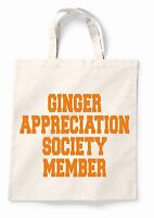 Ginger Appreciation Canvas Tote Shopping Bag Cotton Printed Shopper Bag Gift