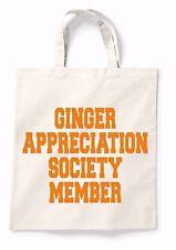 Ginger Appreciation Canvas Tote Shopping Bag Cotton Printed Shopper Bag Gift