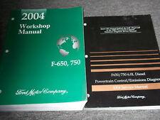 2004 Ford F-650 750 MEDIUM DUTY TRUCK Service Shop Repair Manual Set 04 W PCED