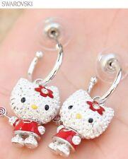 NIB Swarovski Hello Kitty Pierced Lolli Earrings 1120585