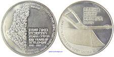 ISRAEL   100 ANS DE PRESENCE   ARGENT   FDC