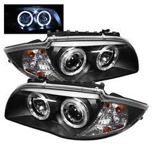 BMW 08-11 E87 1-Series Black Dual Halo Projector Headlight Lamp 128i 135i