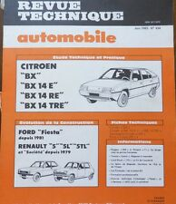 NEUF Revue technique CITROEN BX 14E 14 RE 14 TRE RTA 434 1983 FIESTA RENAULT 5
