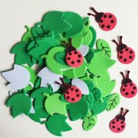 Ladybug Leaves Foam Stickers Kid's Room Creative Decoration Spring Easter Crafts