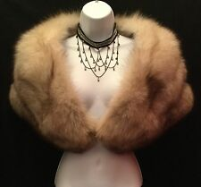 Vintage Silver Fox stole / wedding capelet. Very light colored and stunning.