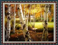 "Oil painting original Art Impressionism Landscape birch forest on canvas 30""x40"""