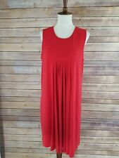 Calvin Klein Size 6 Red Sleeveless Sheath Mid Length Dress
