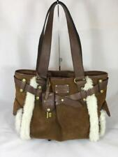 NWOT Fossil Adrina Shopper Suede Satchel with Faux Fur ZB5167231 New MSRP $188