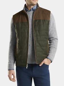 "Peter Millar Men's Crown Mountainside Suede/Wool Vest XL 45-47"" Chest $648.00"