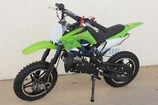 FREE SHIPPING KIDS 49CC 2 STROKE GAS MOTOR DIRT MINI POCKET BIKE GREEN U DB50X