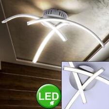 Plafonnier LED design salle de séjour argenté éclairage de projecteurs courbé