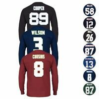 "NFL Majestic ""Eligible Receiver"" Player Jersey Long Sleeve T-Shirt Collection"