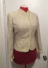 Rena Lange Wool Blend Jade Jacket Blazer Coat Size 14 US Large Made In Germany