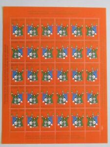 Greenland Christmas Stamps Seal Caritas 1985 MNH UNFOLDED full set
