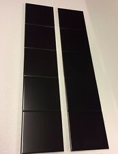 10 BASALT BLACK FIREPLACE TILES - VICTORIAN / EDWARDIAN / REPLACEMENT TILES.