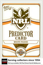 2006 Select NRL Invincible Cards Unredeemed Predictor Card PC15 Tigers