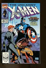UNCANNY X-MEN #268 FINE 6.0 JIM LEE ART / CAPTAIN AMERICA / BLACK WIDOW 1990