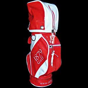 Korean 1879 Korea Red Wine Promo Mini Golf Club Bag Bottle Tote Patent Vinyl