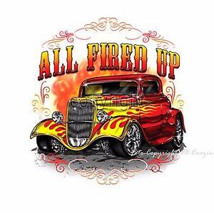 T-Shirt classic Hot Rod Auto Rockabilly Oldtimer car Vintage *1040 bl