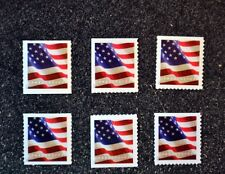 2017USA #5158/5159/5162 Forever - Flag Set of 6 Singles (APU/BCA) (Coil/Booklet)