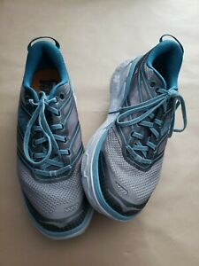 HOKA ONE ONE Women's Conquest 3 Walking Running Blue Gray Shoes Size 9.5