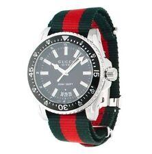 New Gucci Dive XL Sport Black Dial Nylon Strap Men's Watch YA136206