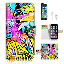 ( For iPhone 6 6S ) Wallet Case Cover  P0579 Graffiti