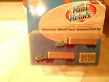 Mini Metals  #51148 Safeway Foods White WC Tractor/Refrigerated Trailer Sets